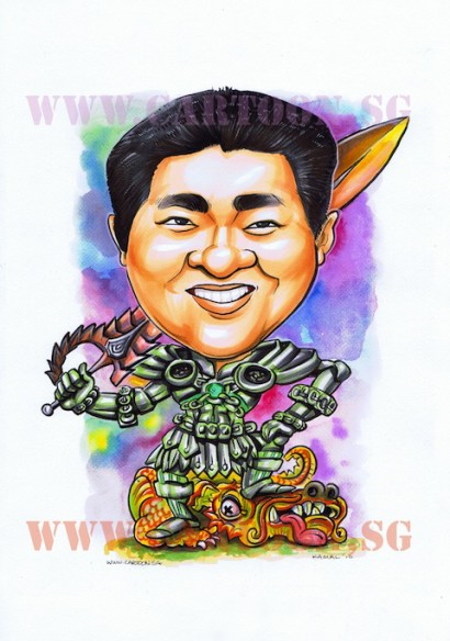 NavalDeus- Blade Hunter - Gift Caricature