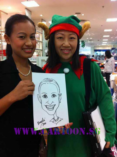 Live Drawing @ Isetan,Scotts