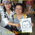 'Live' Drawing Caricature @ Hortpark - Artist and Subject
