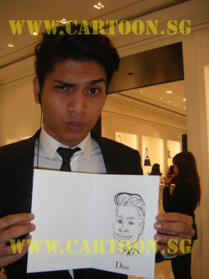 'Live' Caricature Drawing - Private Funtion - Dior Staff - Cartoon Drawing