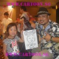'Live' Caricature Drawing - Private Event - Artist Kamal Dollah