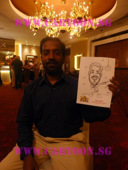 'Live' Caricature Drawing - Private Function - B/W Drawing