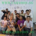 Proud Graduants of Cartoon.Sg 1st Caricature Class