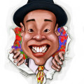 Digital Caricature of clown by Singapore artist from Cartoon.SG