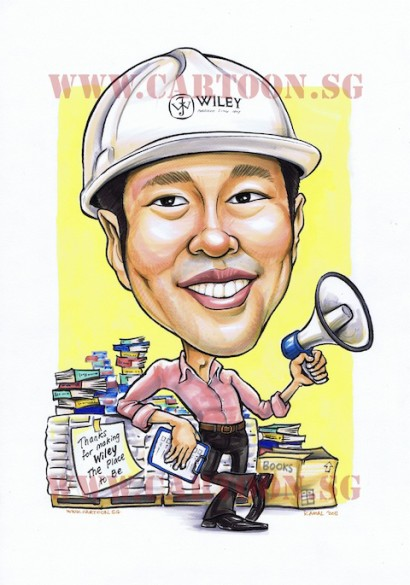 Wiley Contractor caricature of guy smiling