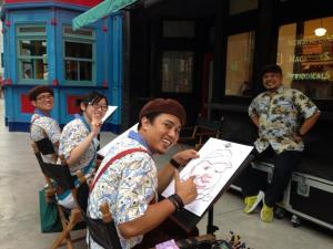 Caricature-Artists-At-Universal-Studios-Singapore