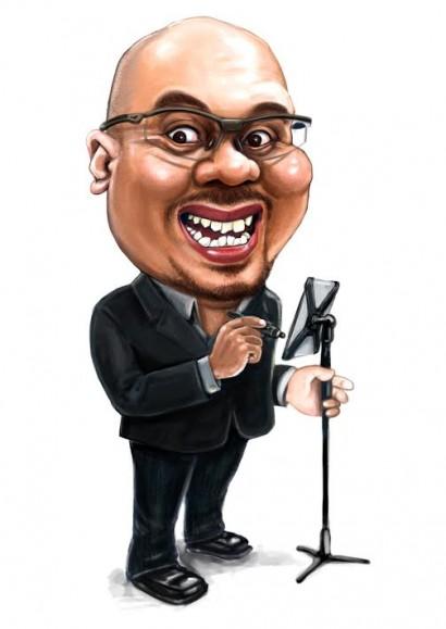 Singapore caricature artist Kamal Dollah caricaturist