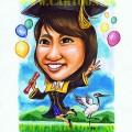 Gradute lady caricature