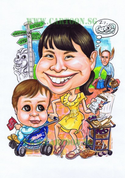 2011-04-21-Mother-baby-birthday-caricature
