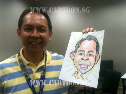 Dell staff happy with his caricature