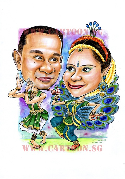 Cartoon Sg Singapore Caricature Artists For Gifts