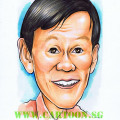 Farewell gift for boss mugshot caricature by singapore artist