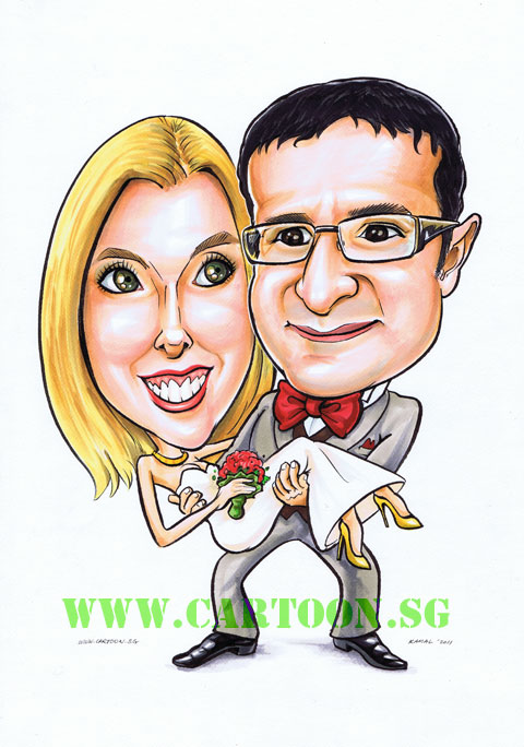 Wedding card design and graphic for couple getting married
