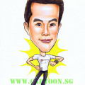 Gift for physical trainer. Caricature cartoon by singapore artist