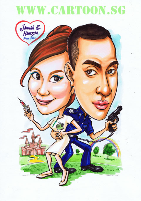 2011-12-23-nurse-policeman-love-wedding-caricature-cartoon-singapore-fairytale.jpg