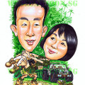 Caricature Gift Adventure Couple