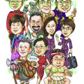 International theme, caricature gift
