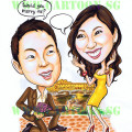2012-08-16-Couple-proposal-italy-bridge-gift-caricature-wedding