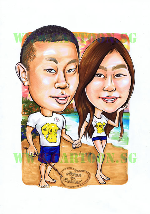 2012-09-05-pikachu-couple-beach-boyfriend-girlfriend-gift-caricature.jpg