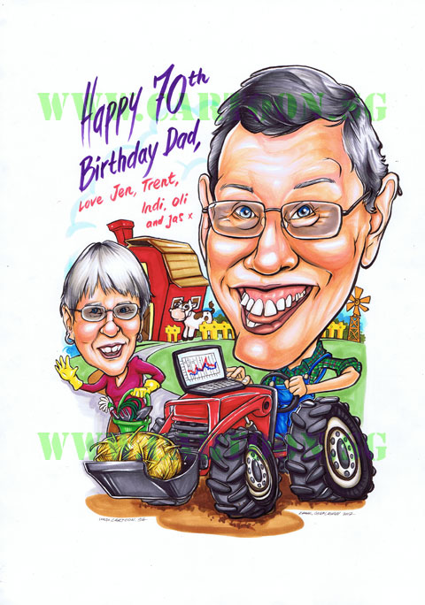2012 10 12 Farm Tractor Cartoon Farmer Gift