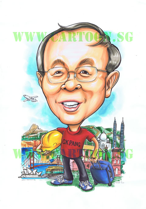 Uncle's 70th Birthday Caricature 'Cartoon.SG' Professional ...