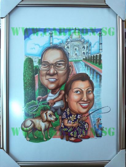 2012-12-20--Tajmahal-Frame-Anniversary-Caricature