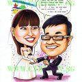 2013-01-07-Wedding-couple-caricature-song-lyric--bridal-gown-groom-microphone