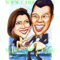 2013-01-08-Couple-Wedding-Roses-Caricature