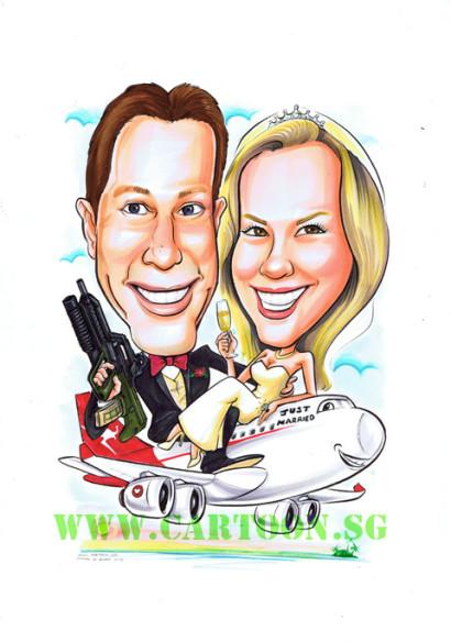 2013-01-18-Wedding-Couple-Gun-Aeroplane-Qantas.V2