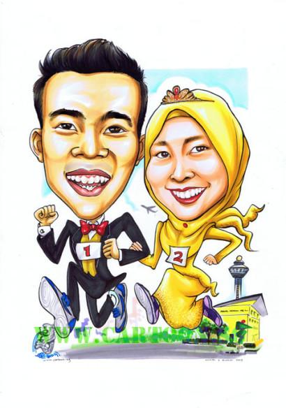 2013-02-21-Wedding-Caricature-School-Changi-Airport-Melion-