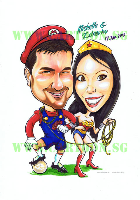 2013-03-12--Superhero-Theme-Couple-Wonder-woman-Mario