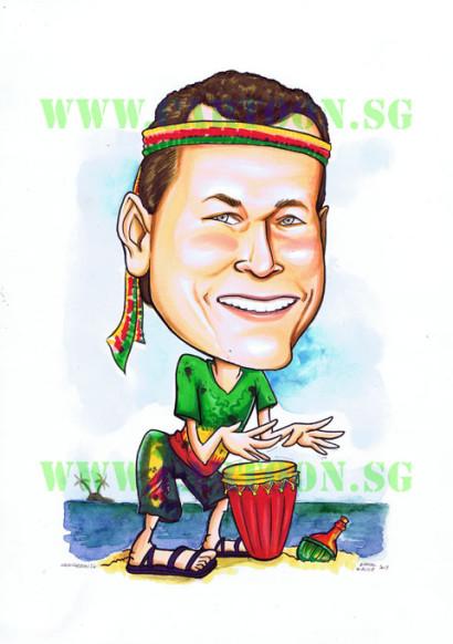 2013-03-13-Reggae-Drum-Male-Caricature-colourfull-rainbow