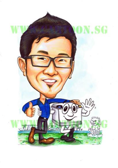 2013-03-26-battery-merlion-singapore-landscape-blue-shirt-caricature