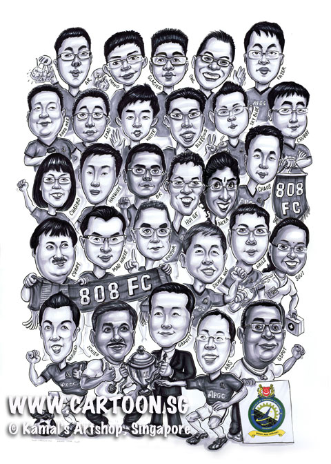 2013-04-25-RSAF-Group-Caricature-drawing-from-photo-Soccer-team.jpg