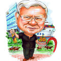 caricature, cartoon, singapore, birthday gift, ship, 80