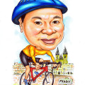 2013-05-13-Parague-blue-helmet-cyclist-red-bicycle-church--caricature