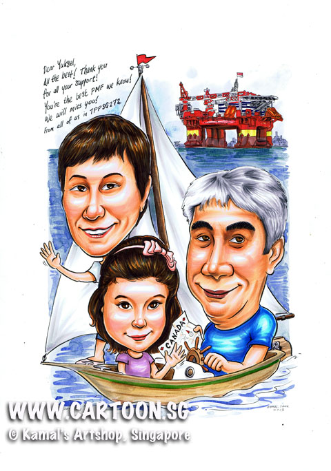 2013-05-16-Oil-rigged-sailing-boat-canada-caricture-singapore-farewell.jpg