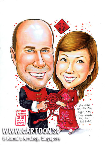 2013-05-17-Traditional-Chinese-Wedding-Caricature-Gift-Cartoon_Caricaturists-Singapore-Good_Luck-sign-Wishes