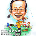 2013-06-14-caricature-golf-merlion-singapore-landmark-vietnam