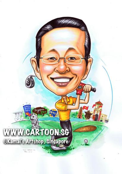 2013-06-14-caricature-golf-merlion-singapore-landmark-vietnam