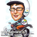 2013-06-25-caricature-pampers-bike-harley-jacket-merlion-