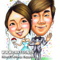 2013-06-26-Caricature-couple-wedding-grass-just-married