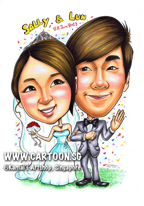 2013-06-26-Caricature-couple-wedding-grass-just-married.jpg