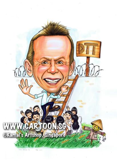 2103-06-25-caricature-boss-farewell-climb-ricepaddy