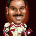 This was drawn around the time of release of Ironman III movie. So he ended up with the latest suit.
