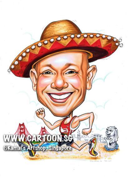 2013-07-05-merlion-mexican-caricature-hat-golden-bridge-running