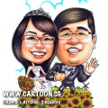 2013-07-05-sunflowers-couple-caricature-windmill.wedding