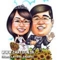 2013-07-05-sunflowers-couple-caricature-windmill.wedding