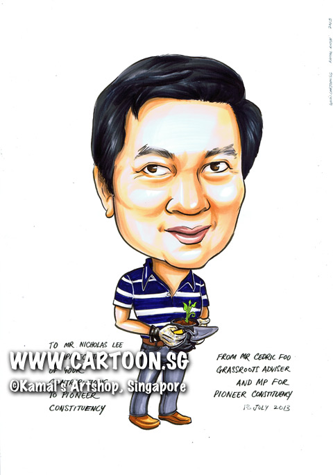 2013-07-11-caricature-gardening-potted-plant-spade-blue-stripped-shirt-grey-pants-brown-shoes.jpg