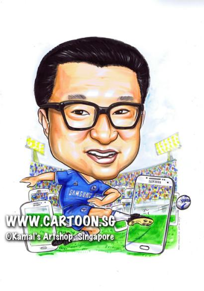 2013-07-15-caricature-samsung-football-blue-jersey-stadium